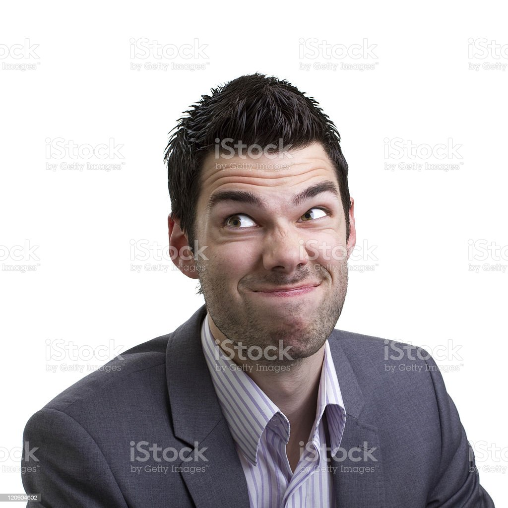 Man made a mistake stock photo