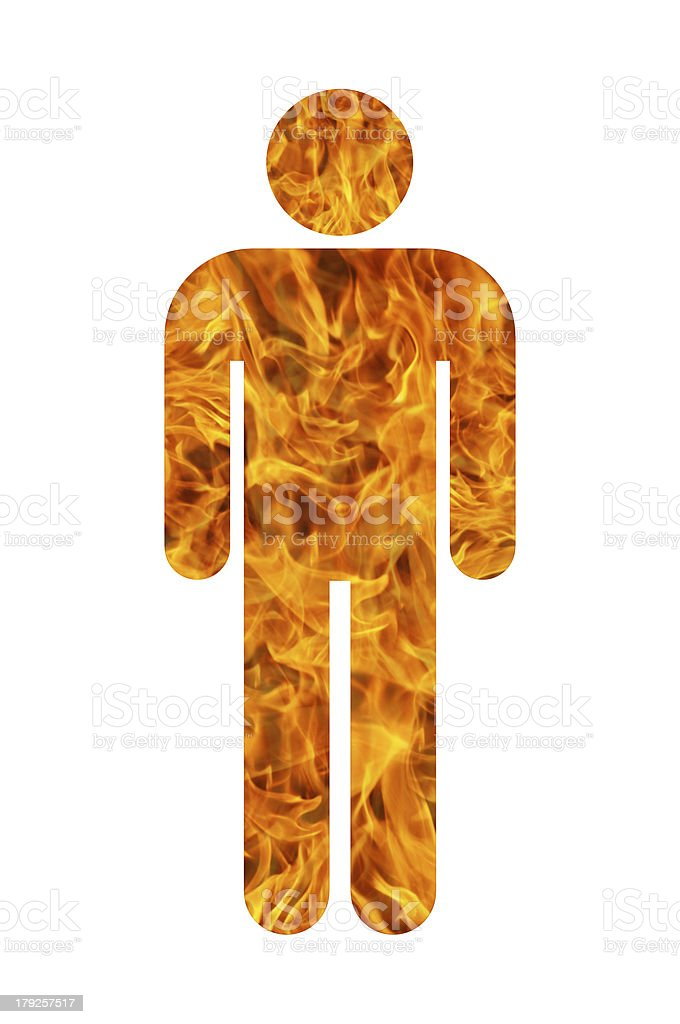 man made of fire royalty-free stock photo