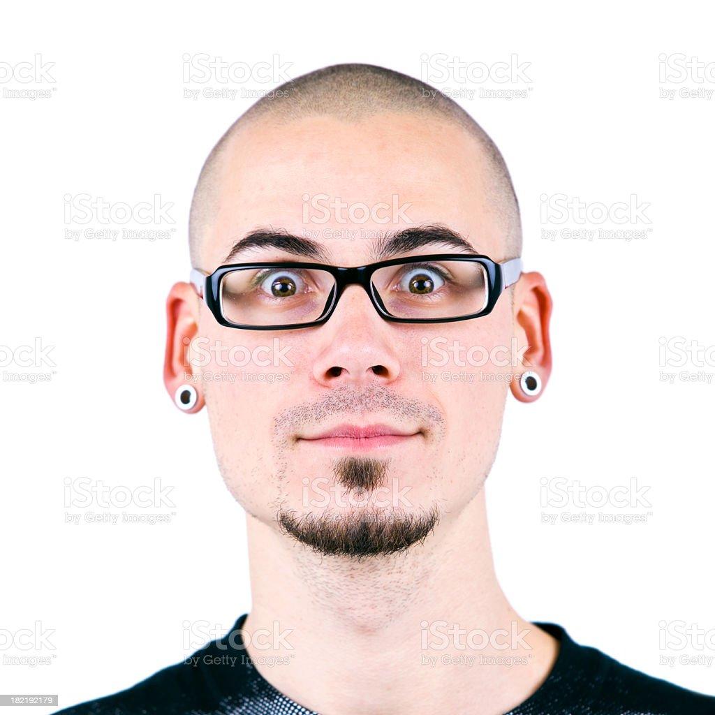 Man making funny face royalty-free stock photo