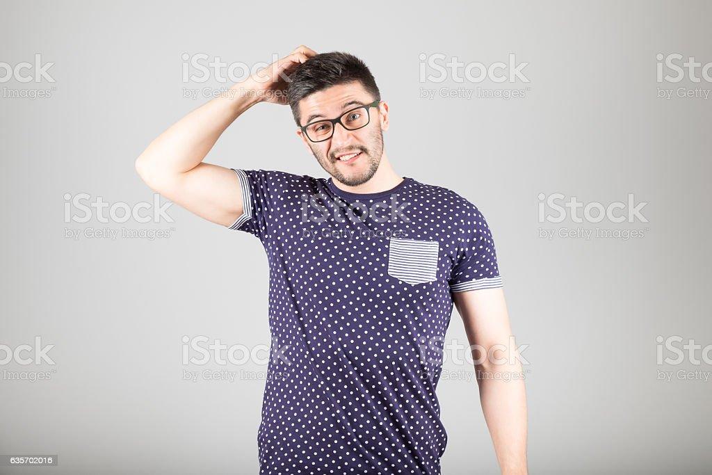 Man making gesture royalty-free stock photo