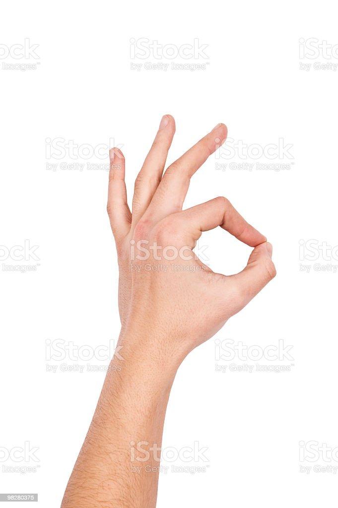 Man making 'ok' sign royalty-free stock photo