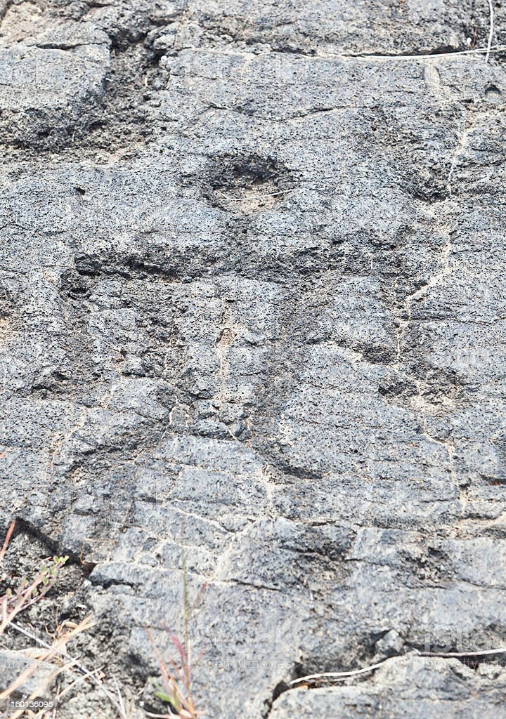 Homme homme silhouette Petroglyph Sculpture Pu'u Loa, Big Island, Hawaii - Photo