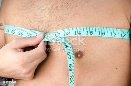 1163494373 istock photo man measured the chest 494585366
