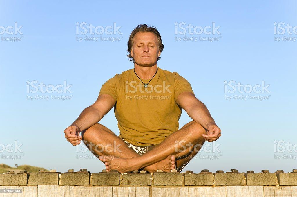man meditating. royalty-free stock photo