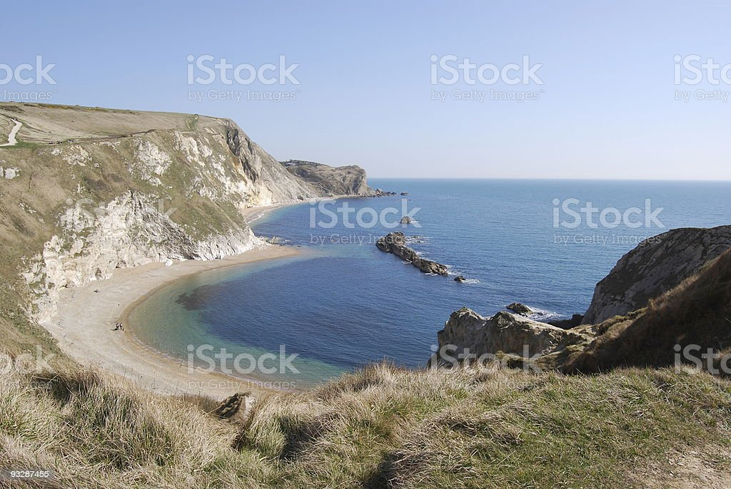 Man O' War beach, Adjacent to Durdle Door royalty-free stock photo