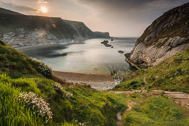 Man o War cove in Dorset, UK stock photo