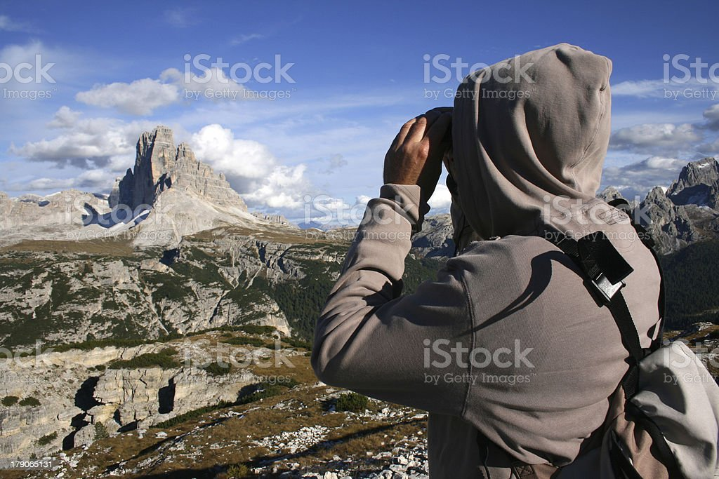 Man observing Mountain royalty-free stock photo