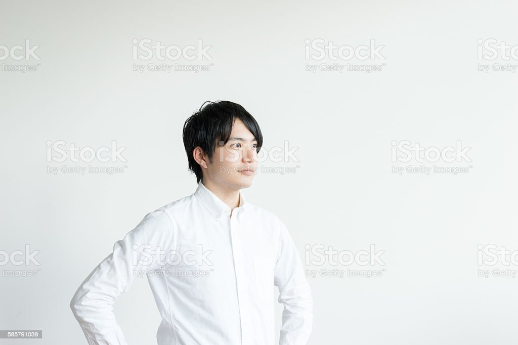 Man of confident expression stock photo