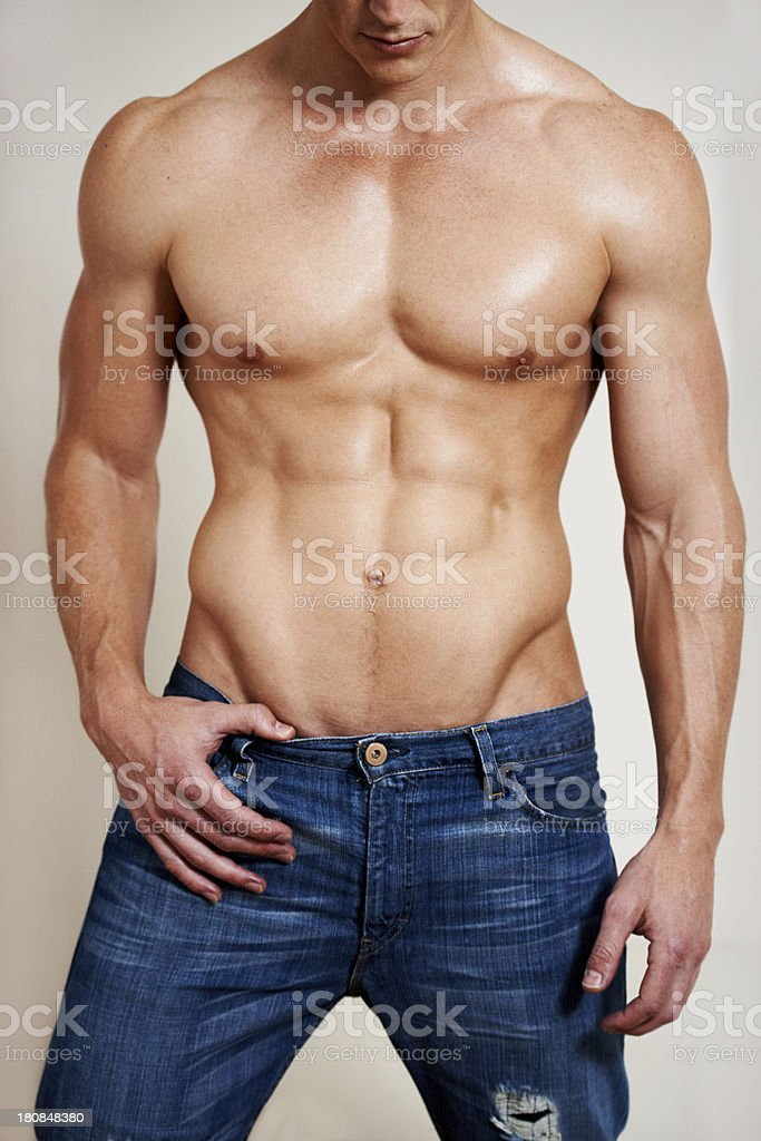 Man of muscle stock photo