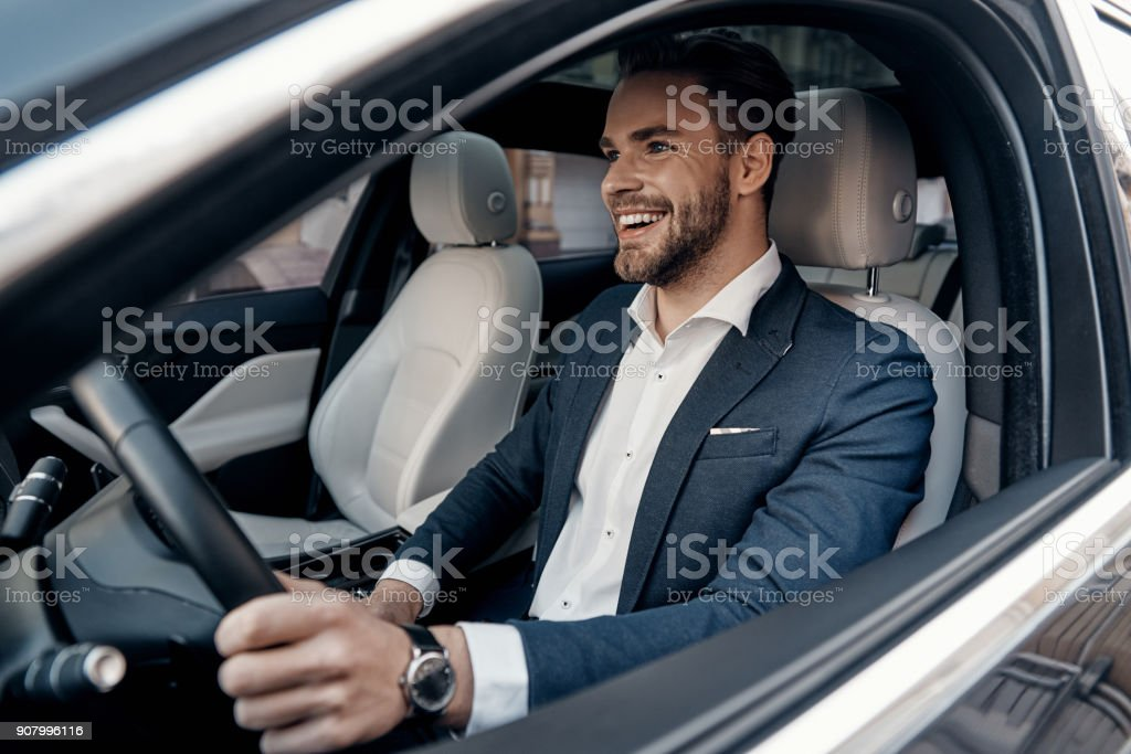 Man of style and status. stock photo