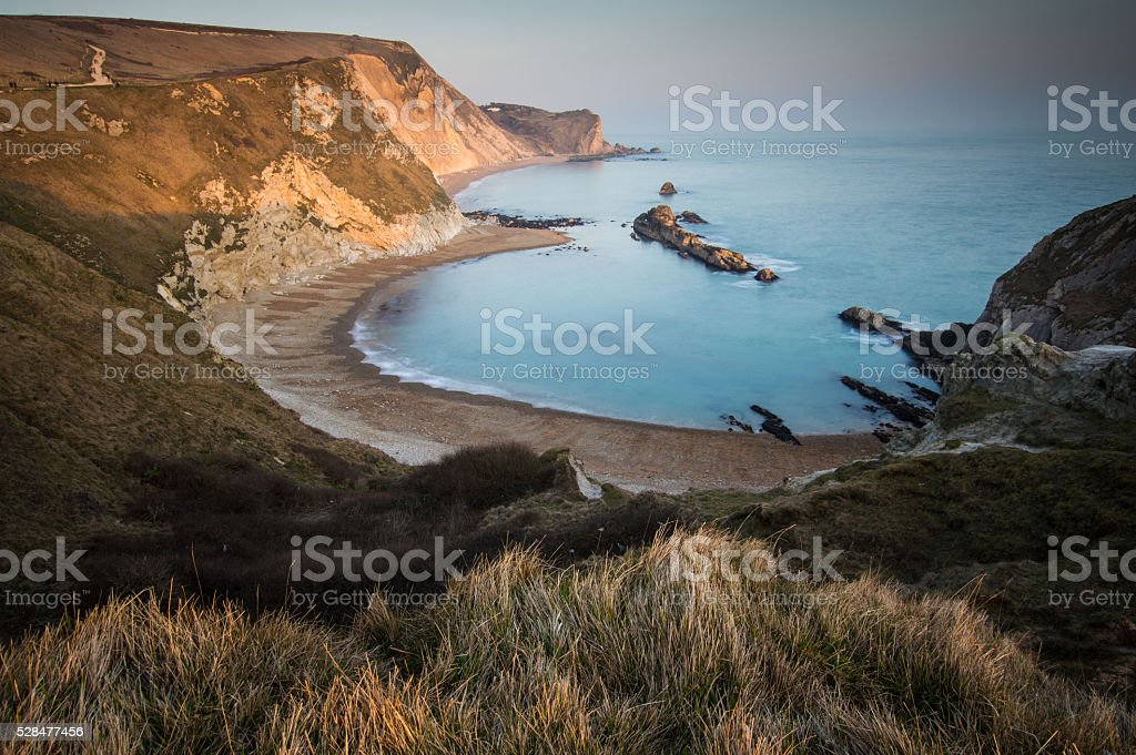 Man of War in Dorset stock photo