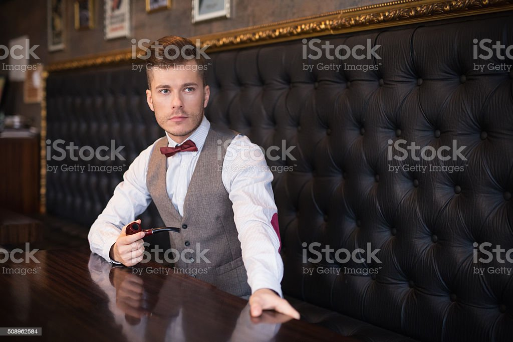 Man Of Wealth And Taste stock photo