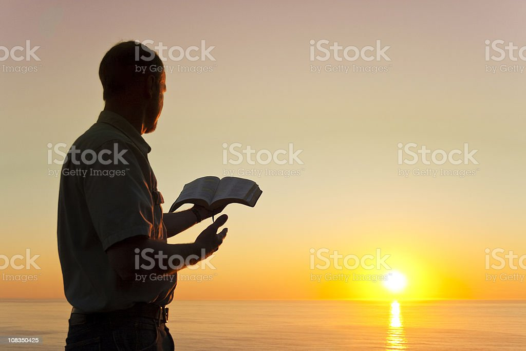 Man Offering Knowledge stock photo