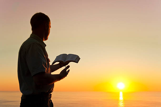man offering knowledge - preacher stock photos and pictures
