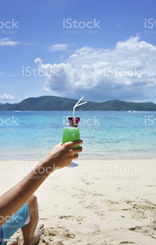 Man on a beach royalty-free stock photo