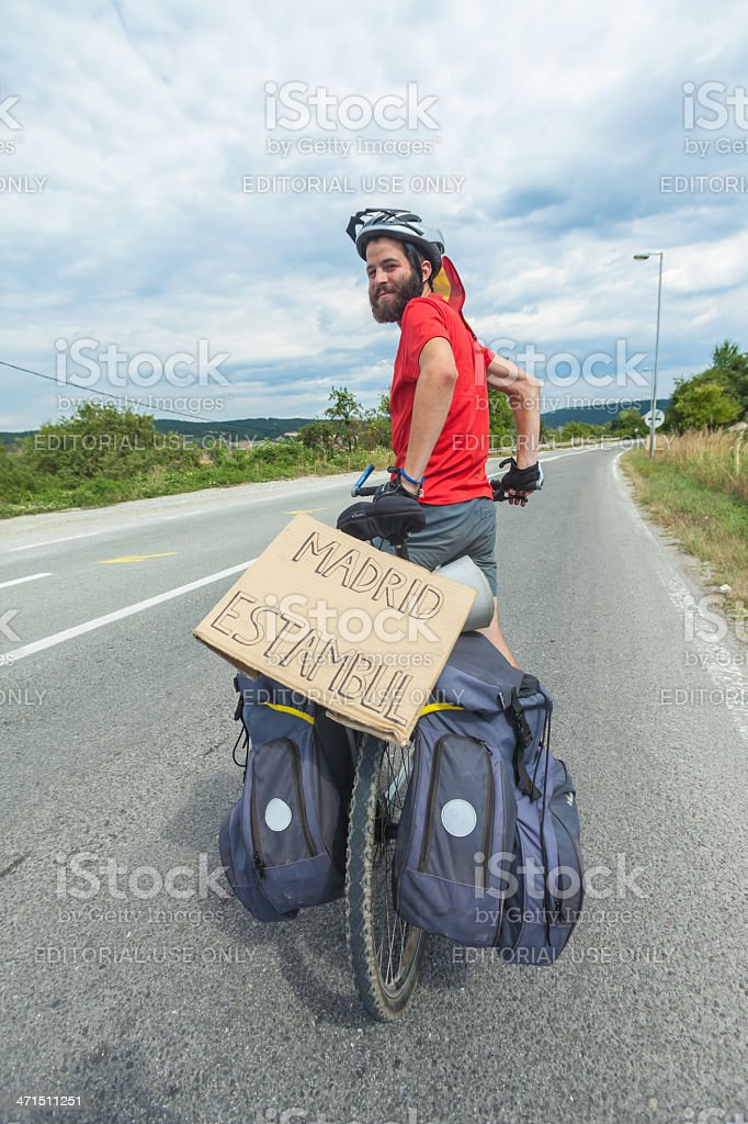 Man on a bicycle. royalty-free stock photo