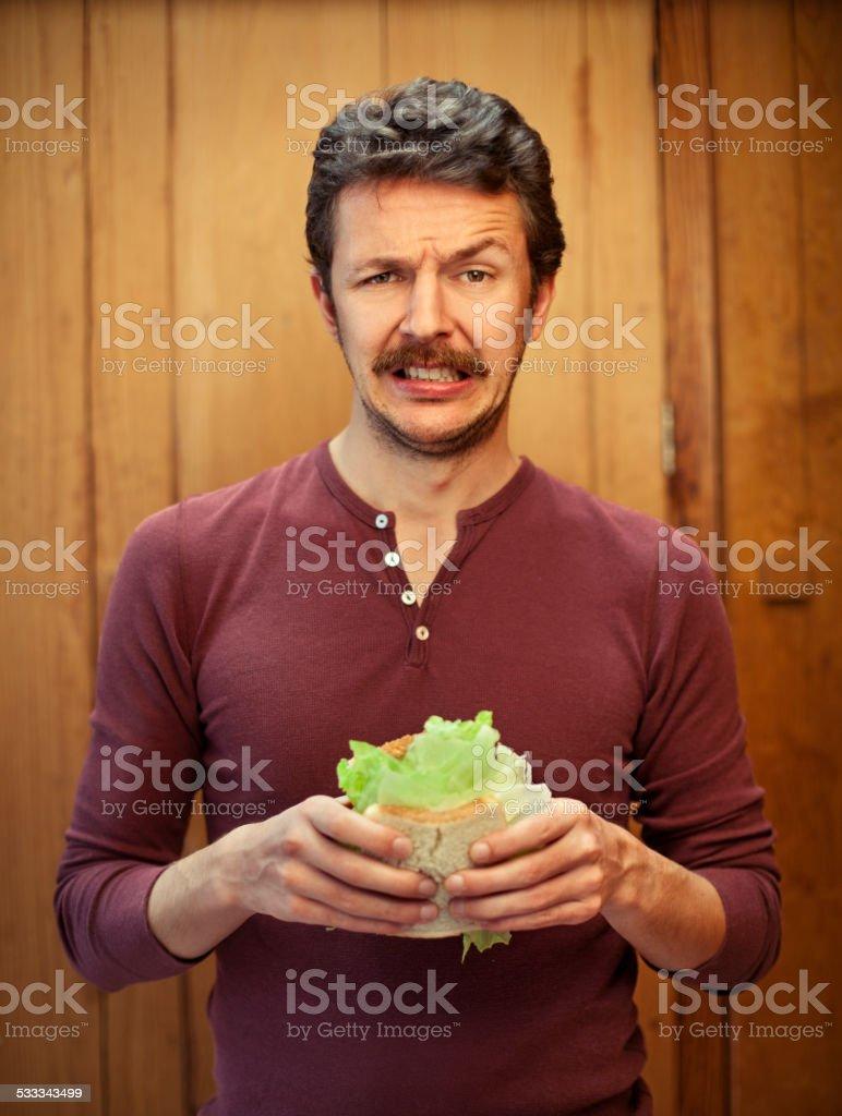 Mann auf eine Diät – Foto