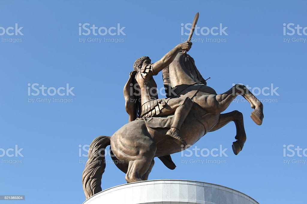 Man on a Horse stock photo