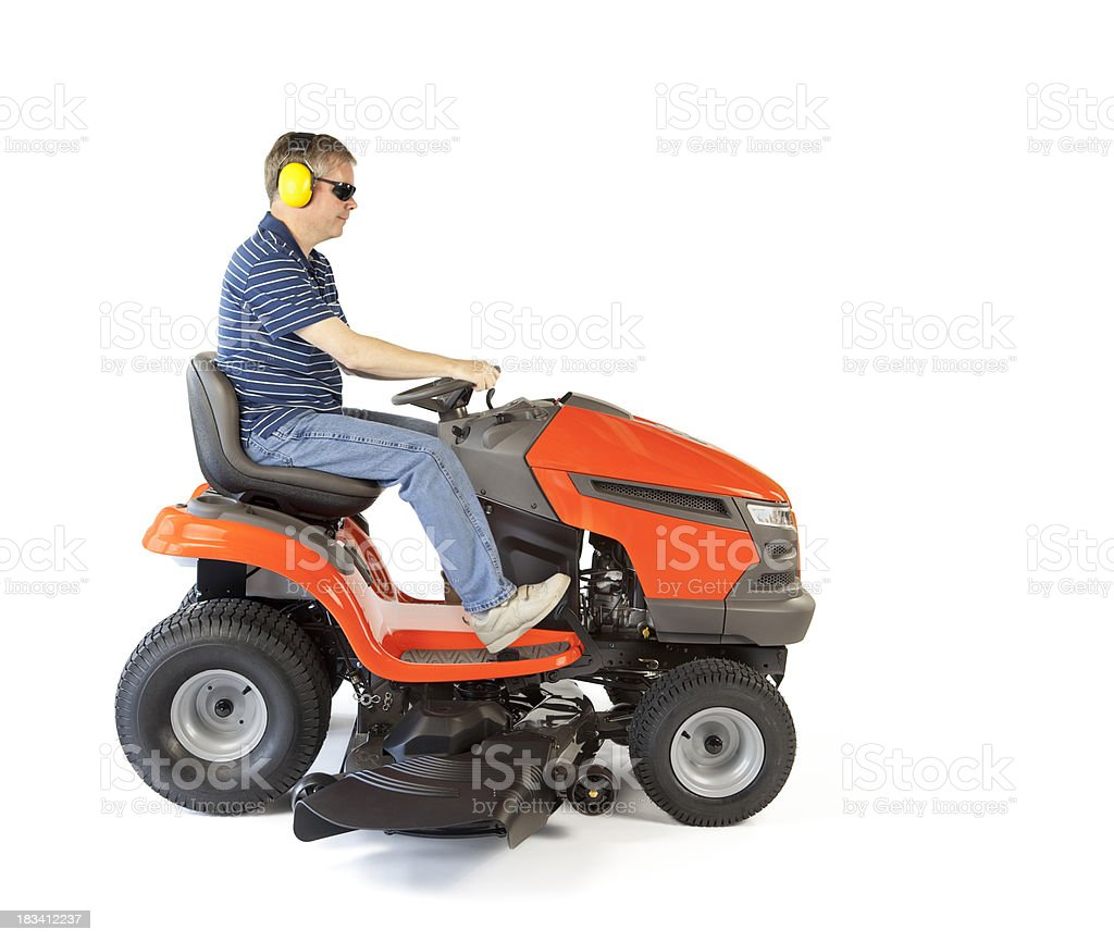 Man on a Mower stock photo
