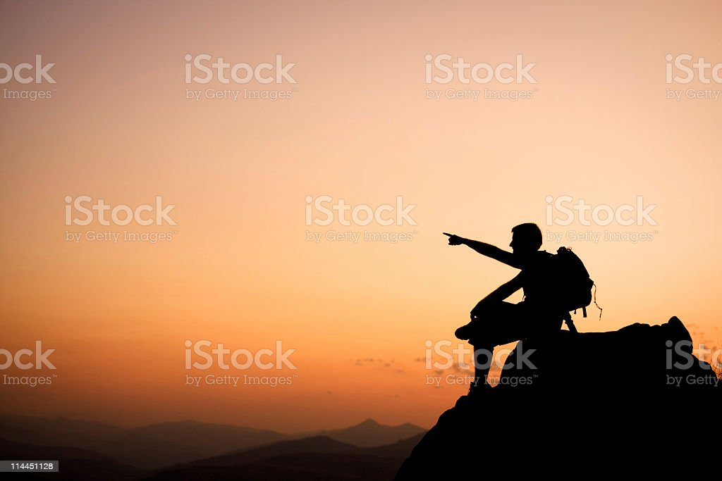Man on a rock. royalty-free stock photo