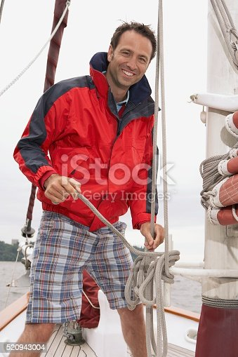 Man on a sailboat
