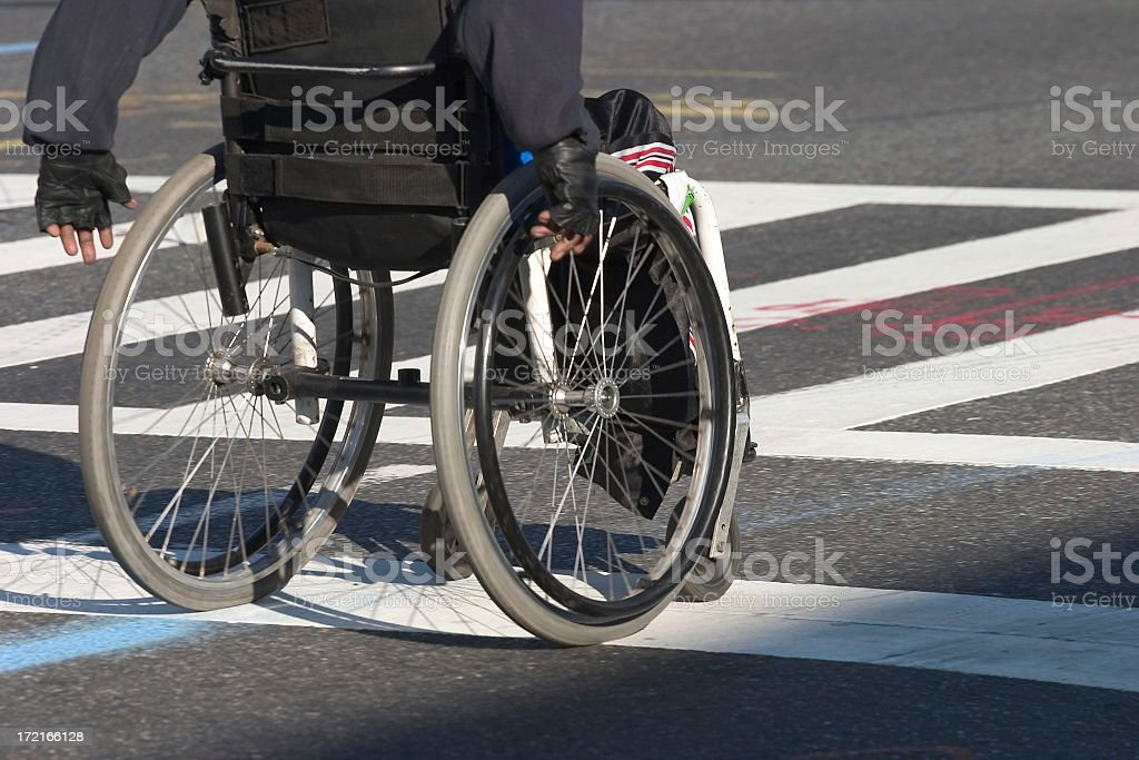 Man on a wheelchair stock photo