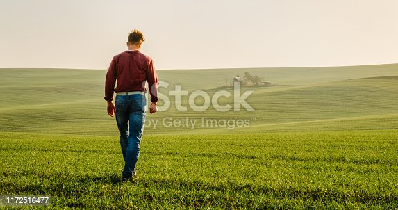 1094815168 istock photo Man on agricultural field,south Moravian, Czech Republic 1172516477
