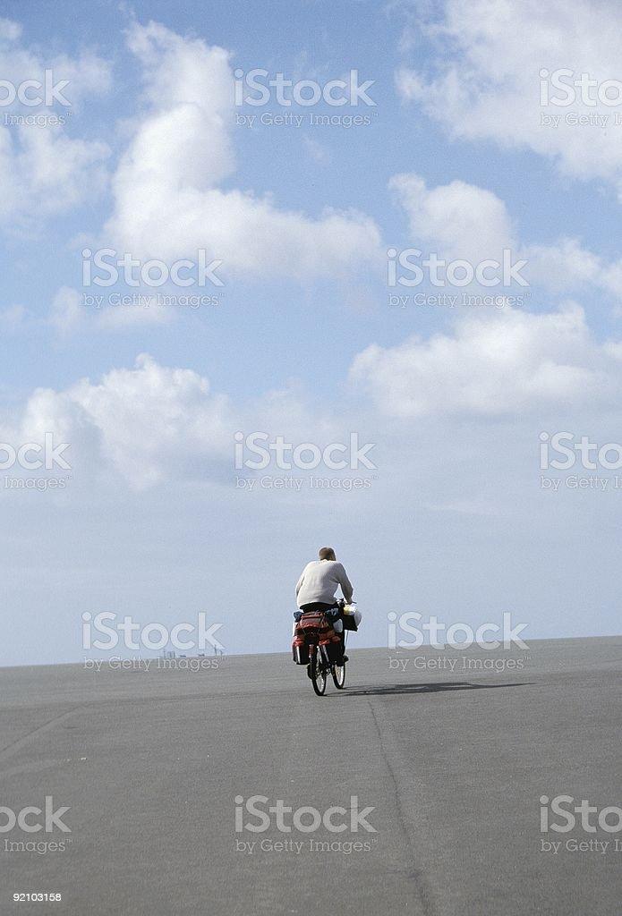 Man on Bike royalty-free stock photo