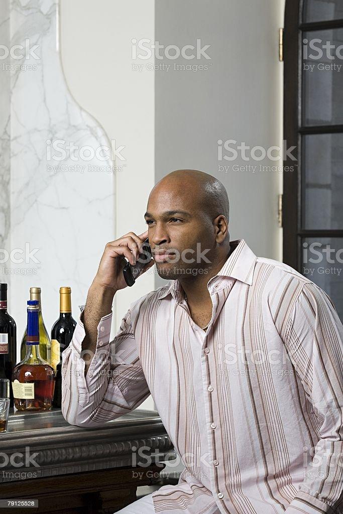 Man on cellphone 免版稅 stock photo