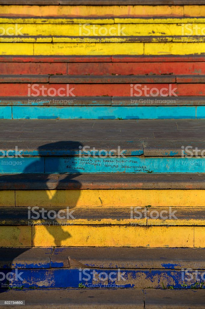 Man On Colors stock photo