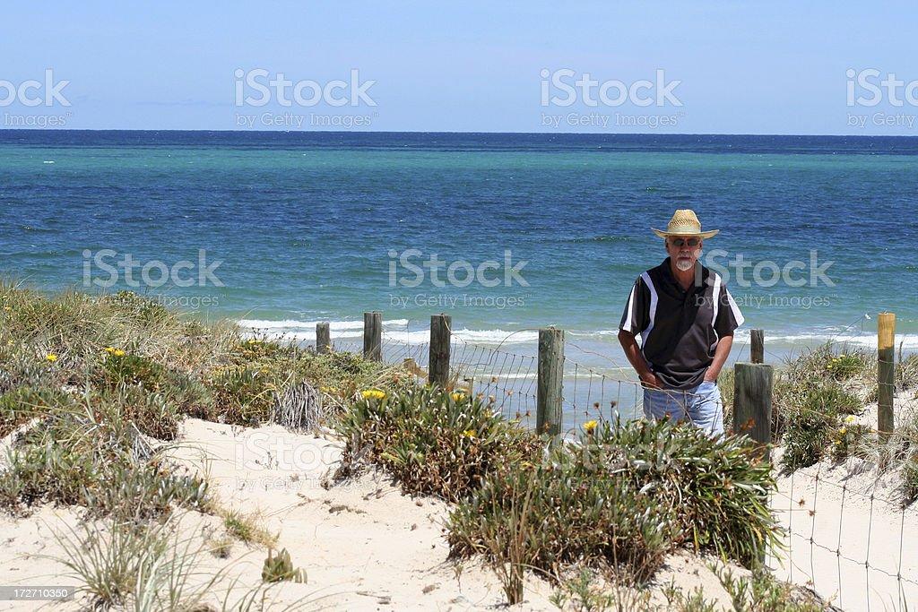 Man on dunes royalty-free stock photo