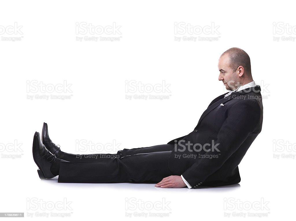man on floor stock photo