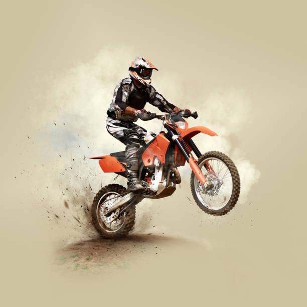 man on his sport motor - motorbike racing stock photos and pictures