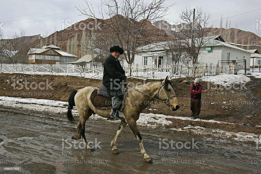 Man on horse royalty-free stock photo