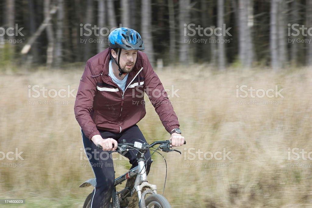 Man on mountain bike royalty-free stock photo