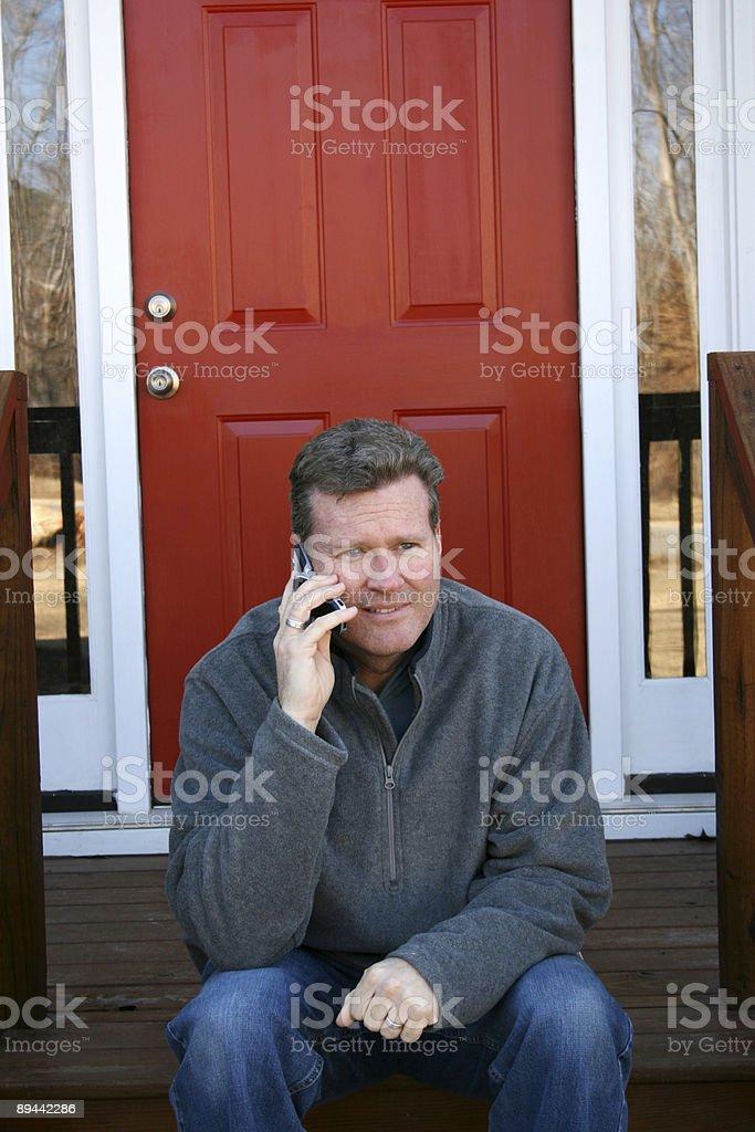 Man on phone royalty-free stock photo