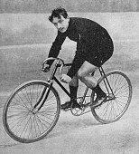 Man on racing bicycle