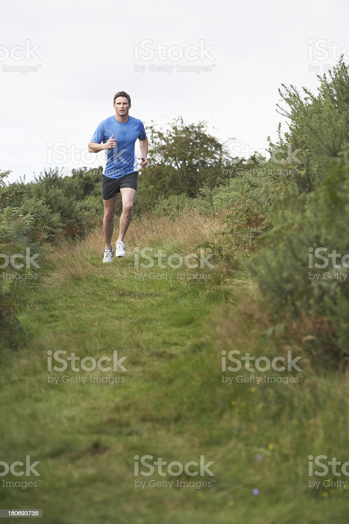 Man On Run In Countryside royalty-free stock photo