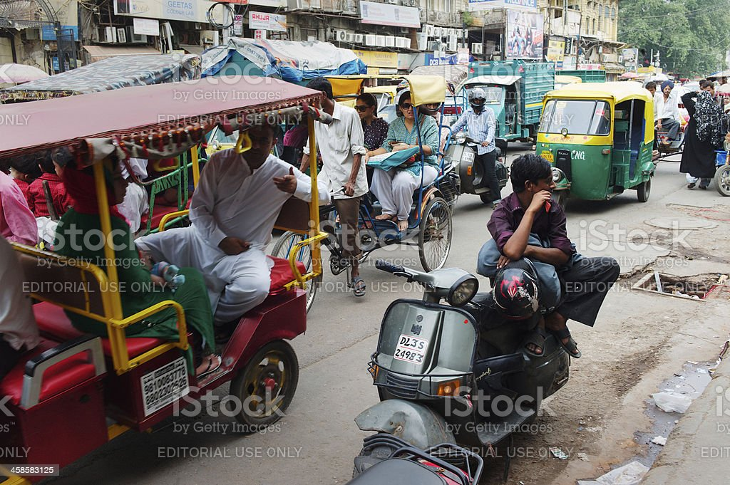 Man on Scooter in India royalty-free stock photo