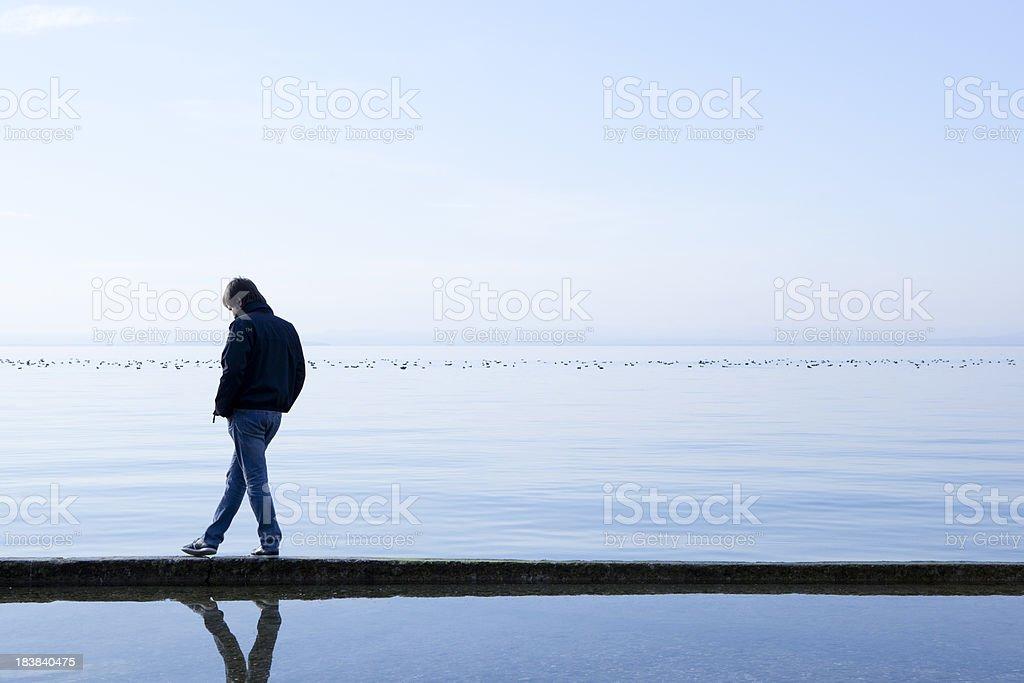 Man on sea royalty-free stock photo