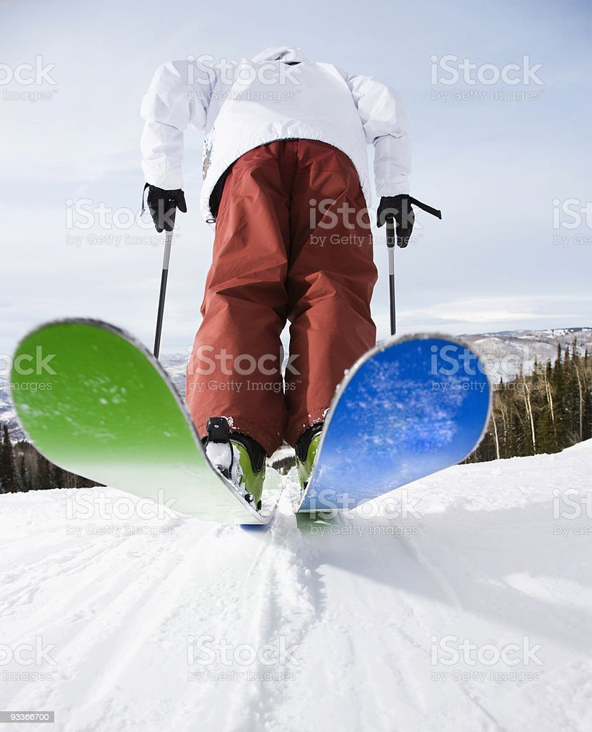 Man on skis. royalty-free stock photo