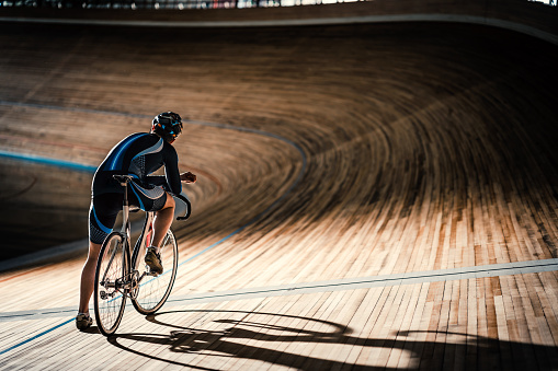 Man On Sports Track Stock Photo - Download Image Now