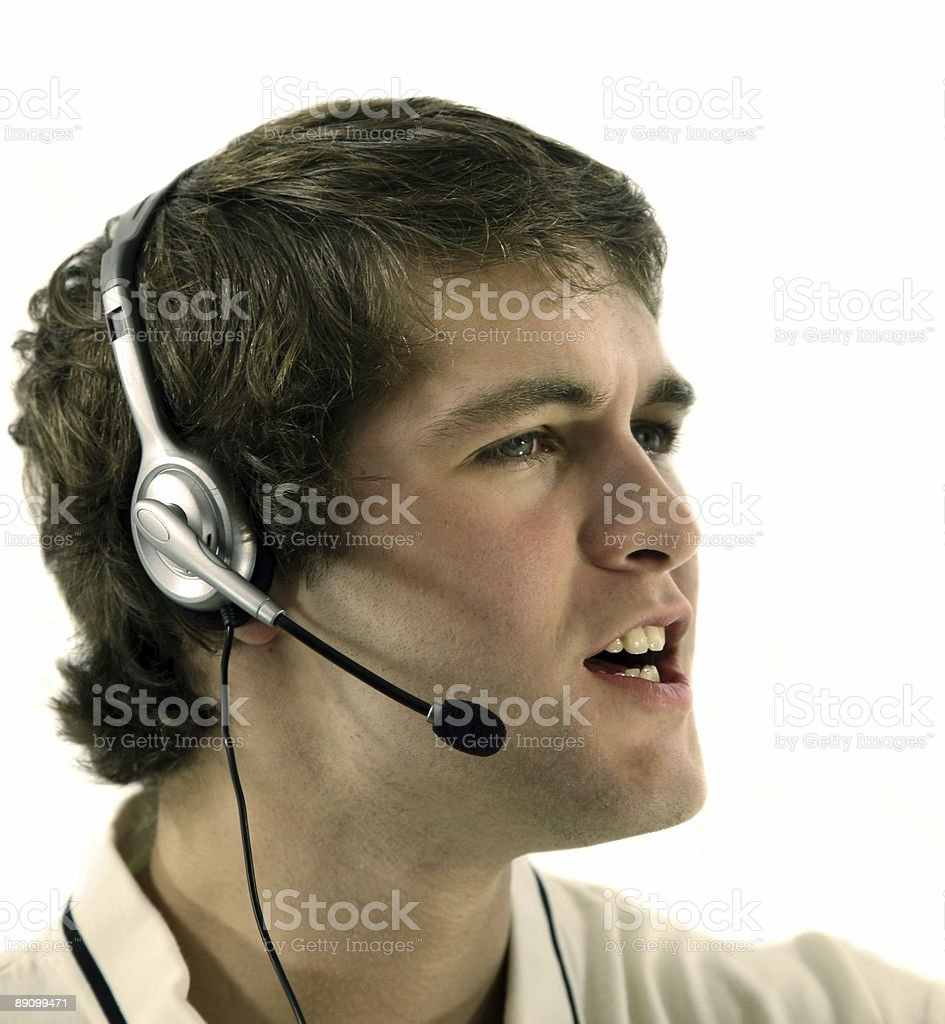 Man on Support Call royalty-free stock photo