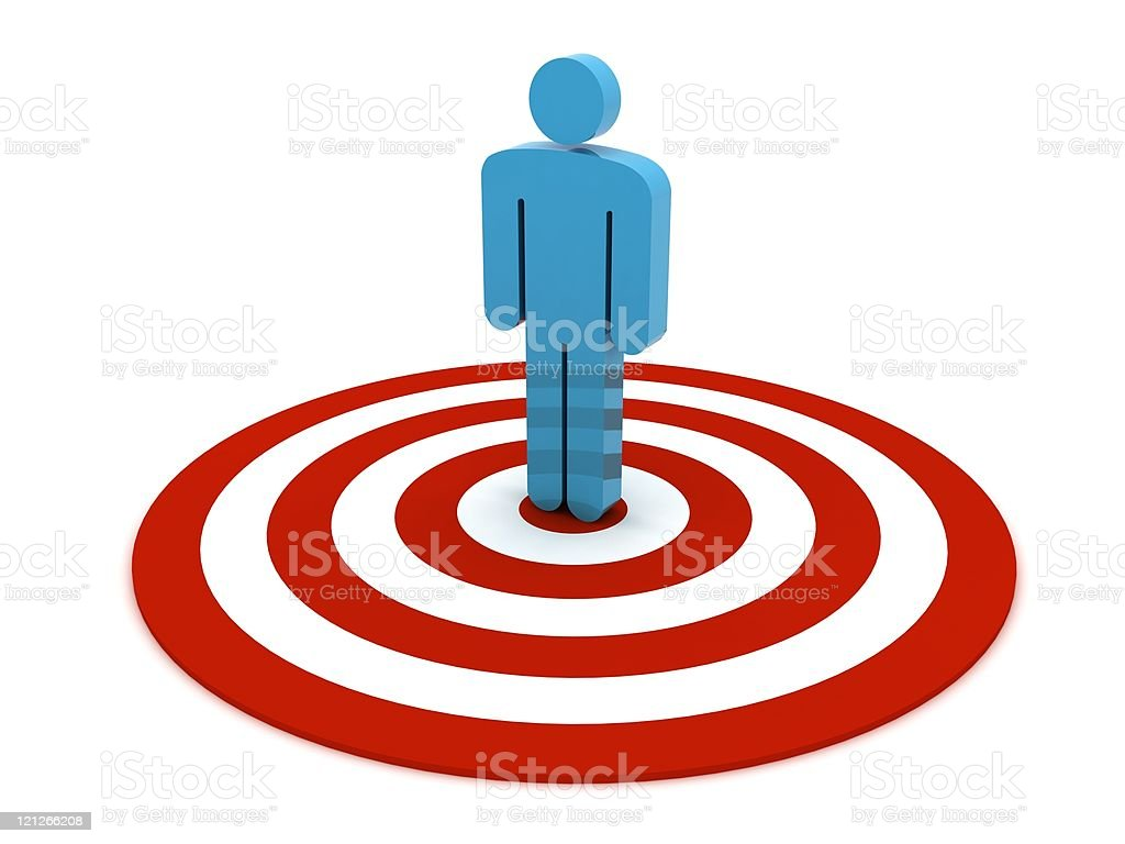 Man on Target stock photo