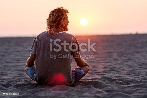 istock Man on the beach 529989040