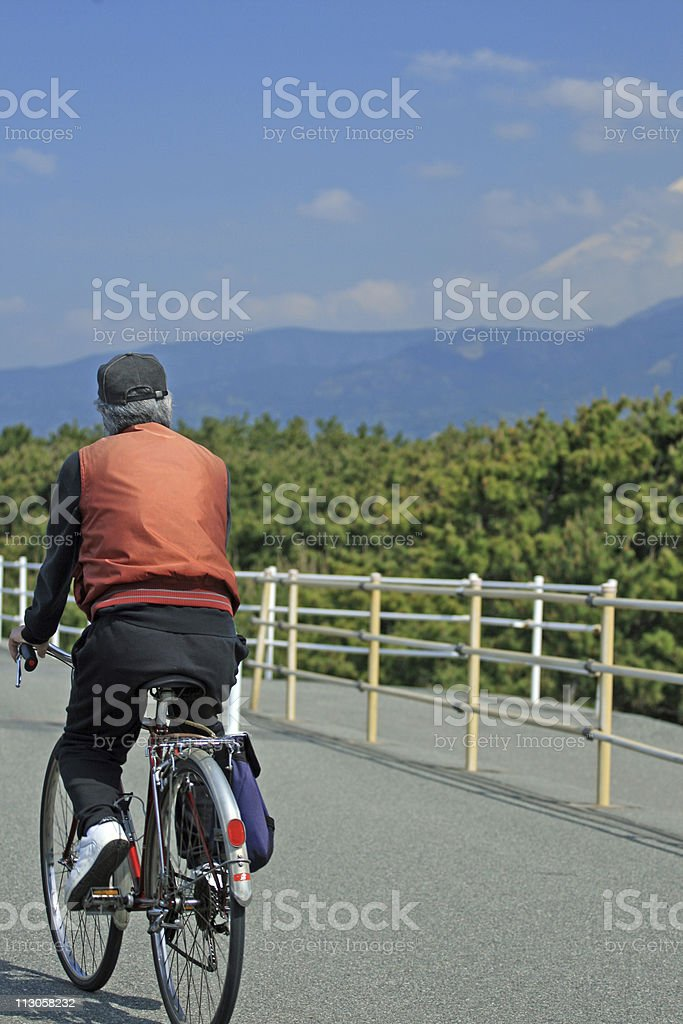 Man on the bicycle royalty-free stock photo