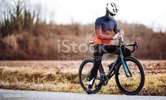 man on the bike parking