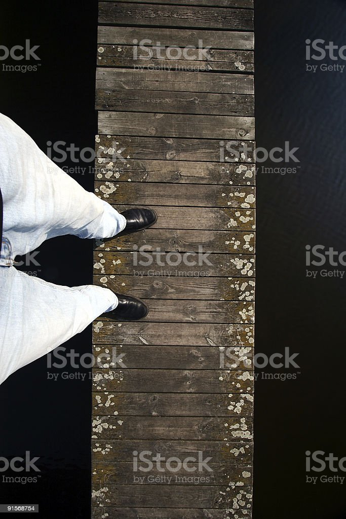man on the bridge royalty-free stock photo