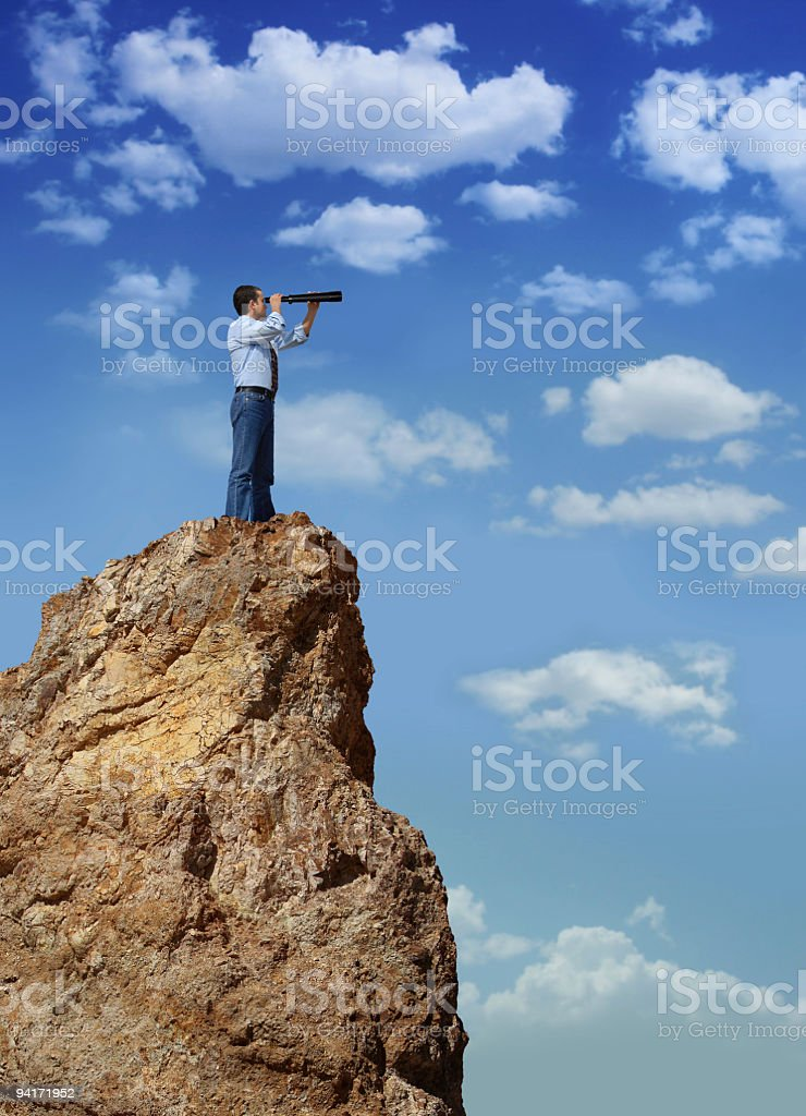 Man On The Hill royalty-free stock photo