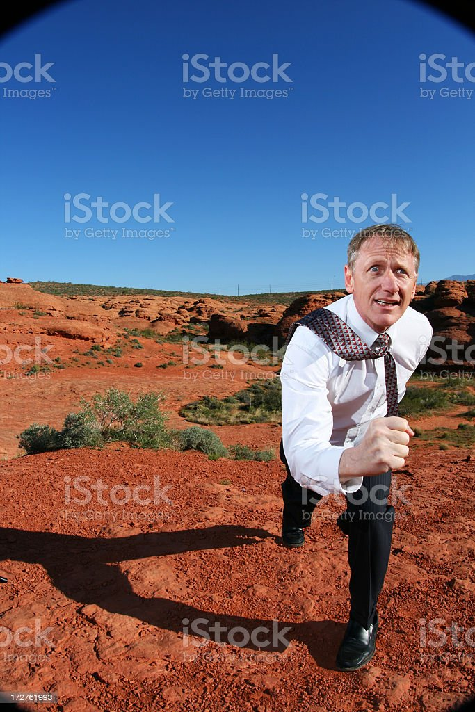 Man on the move royalty-free stock photo